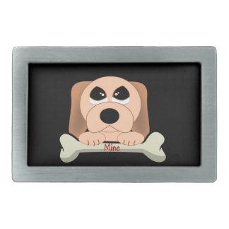 Hund und ein Knochen Rechteckige Gürtelschnalle