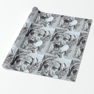 Hund und Geburtstags-Packpapier der Ballkinder Geschenkpapier