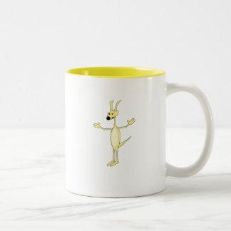Hund Zweifarbige Tasse