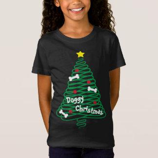 Hündchen-WeihnachtsGekritzel-Baum T-Shirt