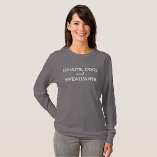 Hunde-, der Schaumgummiringe u. Sweatpantslanges T-Shirt