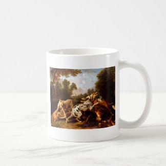 Hunde, die durch Frans Snyders kämpfen Kaffeetasse
