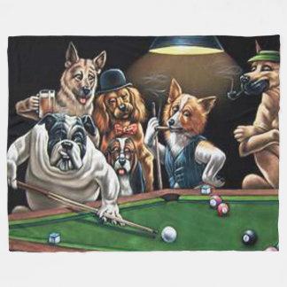 Hunde, die Pool - Bulldogge spielen Fleecedecke
