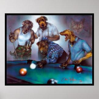 Hunde, die Pool - Dan Mc Manus spielen Poster