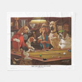 Hunde, die Pool - ein Bein auf dem Boden spielen Fleecedecke