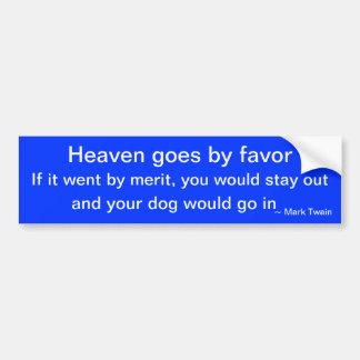 Hunde durch Mark Twain Autoaufkleber