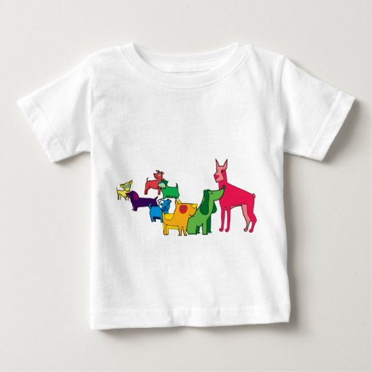 hunde Farben Baby T-shirt