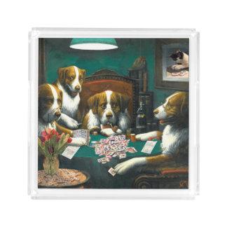 Hunde Milliamperestunde Jongg, die Poker-Behälter Acryl Tablett