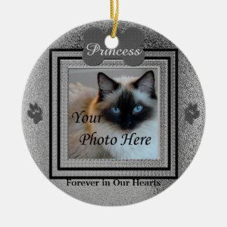 Hunde-oder Katzen-kundenspezifisches Rundes Keramik Ornament