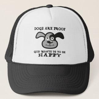 Hunde sind Beweis-Gott will uns, um glückliche Truckerkappe