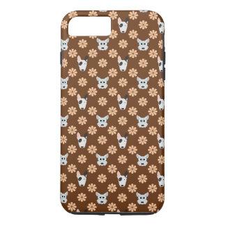 Hunde und Blumen Brown iPhone 8 Plus/7 Plus Hülle
