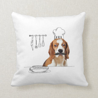Hunde und Gekritzel - Kochs-Hundekissen Kissen