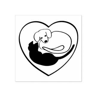 Hunde-und Katzen-/Welpen-und Miezekatze-Herz Gummistempel
