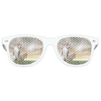 Hunde- und Katzenfreundschaft - 3D übertragen Retro Sonnenbrillen