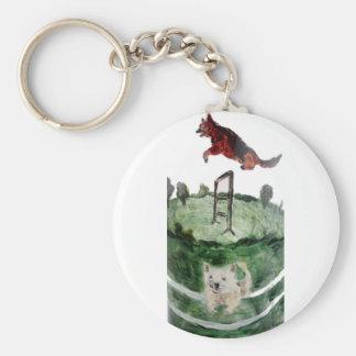 HundeAgility-Malerei Schlüsselanhänger