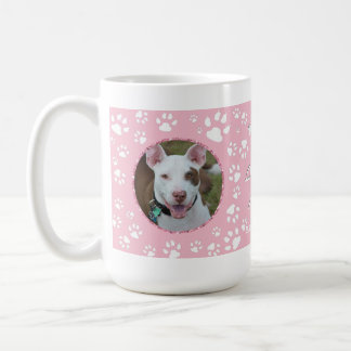 HundeBeileids-Denkmal Ihr Foto-Tatzen-Druck-Rosa Kaffeetasse