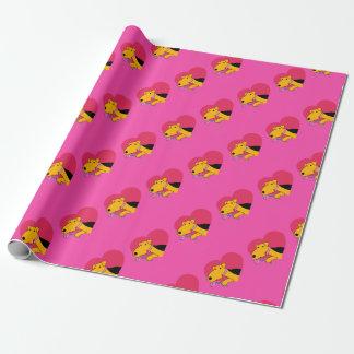 Hundedes Valentinsgrußes Airedales Terrier das Geschenkpapier