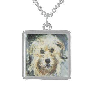 Hundedetail von Claude Monet-Malen Sterling Silberkette