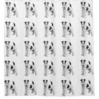 Hundeduschvorhang - Foxterrier Duschvorhang