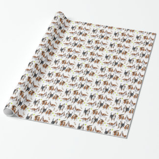 Hundegeschenk-Verpackung HeulensBasset Hound Geschenkpapier