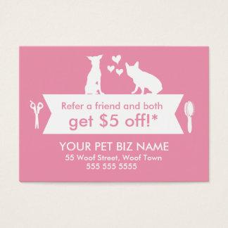 Hundegroomer-Empfehlungs-Karte - Personalizable Jumbo-Visitenkarten