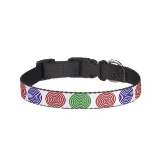 Hundehalsband - Dekor in Spirale gefärbt