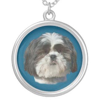 Hundehalskette Shih Tzu Halskette Mit Rundem Anhänger