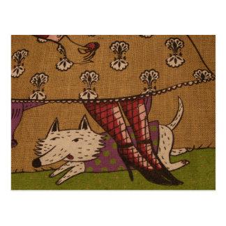 Hundeillustrations-Postkarte Postkarten