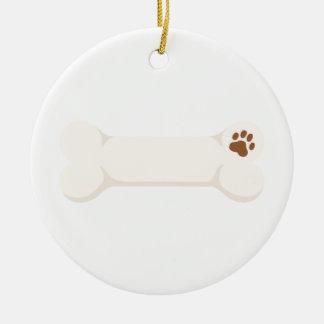 Hundeknochen Keramik Ornament