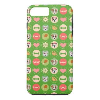 HundeLiebe auf Grün iPhone 8 Plus/7 Plus Hülle