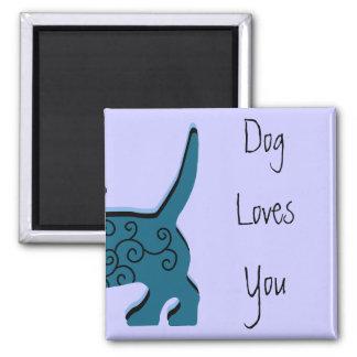 HundeLieben Sie Quadratischer Magnet