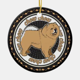 Hundeliebhaber-Chow-Chow-Hund Keramik Ornament