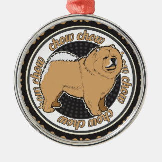 Hundeliebhaber-Chow-Chow-Hund Silbernes Ornament