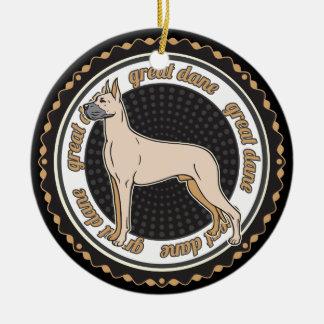 Hundeliebhaber-Dogge-Hund Keramik Ornament