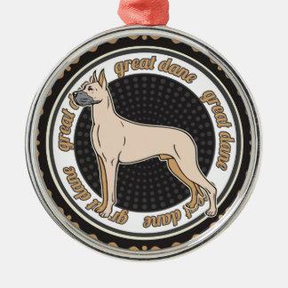 Hundeliebhaber-Dogge-Hund Silbernes Ornament