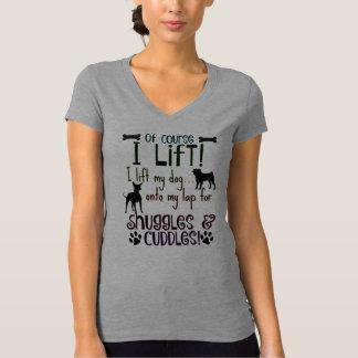 Hundeliebhaber! Ich hebe meinen Hund an! T-Shirt