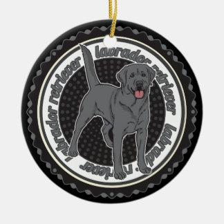 Hundeliebhaber-Labrador retriever-Hund Keramik Ornament