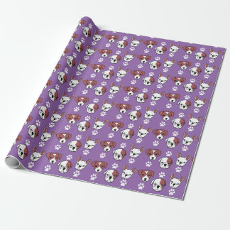Hundeliebhaber-Verpackungs-Papier (lila) Geschenkpapier