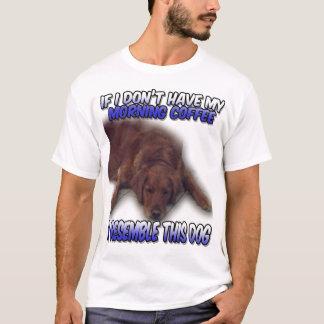 Hundemorgen-Kaffee-T - Shirt