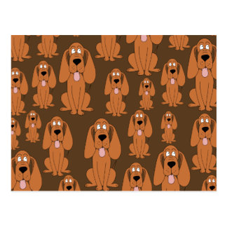 Hundemuster. Jagdhunde, auf Brown Postkarte