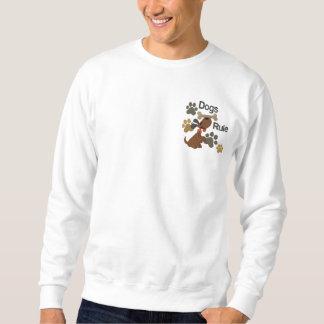 Hunderegel! Besticktes Sweatshirt