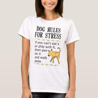Hunderegeln für Druck T-Shirt