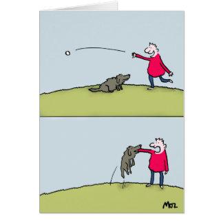 Hundereichweite Grußkarte
