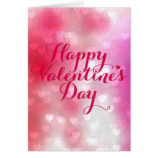 Hundert Herzen rot und rosa Valentinsgruß Karte
