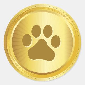 Hundeshow-Sieger-Goldmedaille Runder Aufkleber