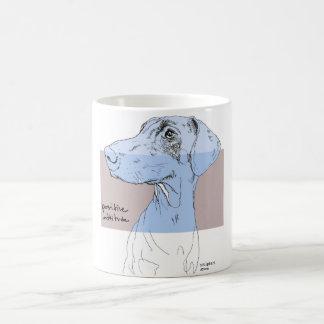 HundeTassen-Dobermann-Tinte, die positive Haltung Kaffeetasse