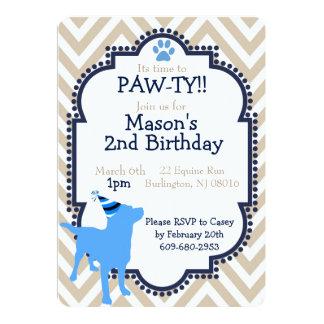 Hundethemed Geburtstags-Party Einladung