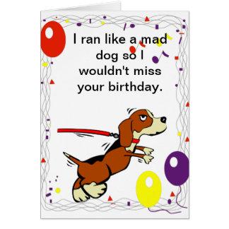 Hundethemenorientierte Geburtstags-Karte Grußkarte
