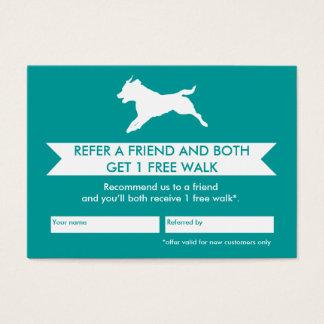 Hundewanderer-Empfehlungs-Karte - Personalizable Visitenkarte