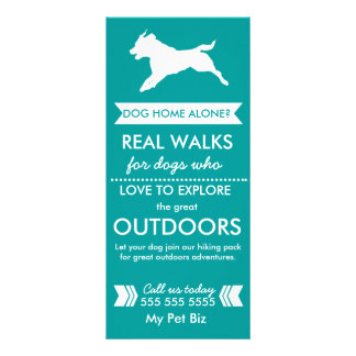 Hundewanderer-Gestell-Karte - Personalizable Werbekarte